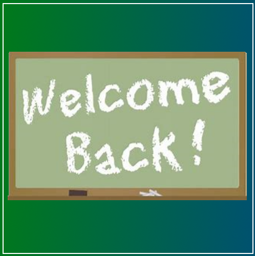 Welcome Back- Term 3 2018